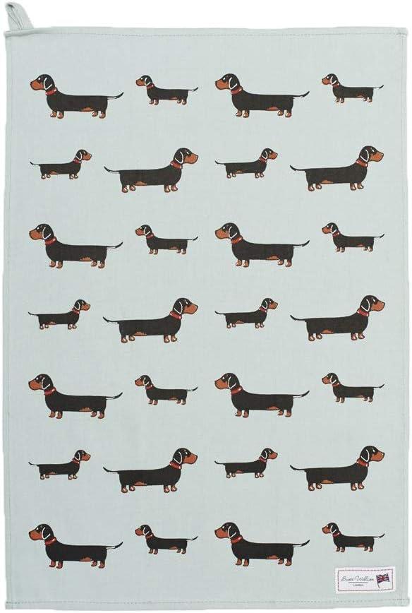 Sophie allport dachshund tea towel