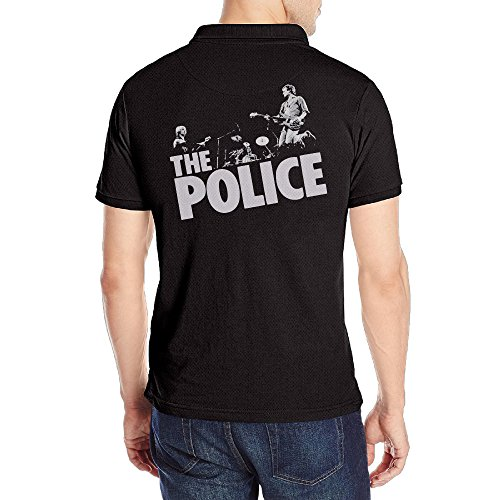Men's The Police Short Sleeve Uniforms Polo Shirt Black (Police Uniforms For Sale)