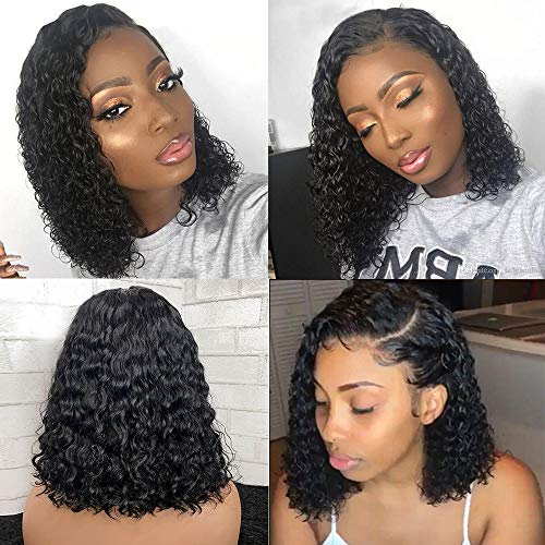 360 Full Lace Wigs Human Hair Wigs for Black Women Brazilian Water Wave Lace Front Wigs with Baby Hair Pre Plucked Wet and Wavy Wigs Remy Human Hair 360 Lace Water Curly Wigs