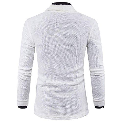 Hombre Moda de Ropa sólido suéter Cardigan Hombre Abrigo Punto para qqUBY