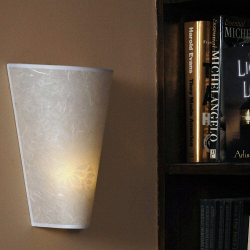 Exciting Lighting Battery Powered White Faux Lace LED Wall Sconce, White