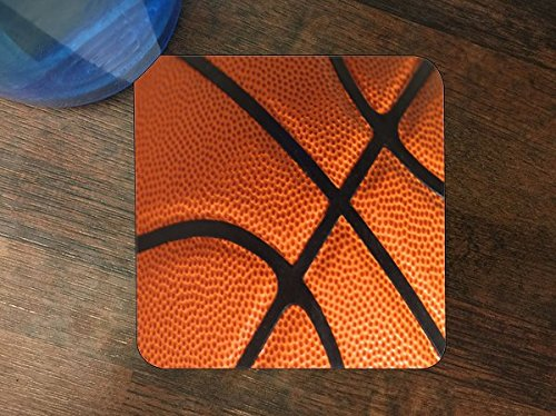 Basketball Silicone Drink Beverage Coaster 4 Pack