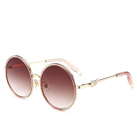 Yangjing-hl Gafas de Sol de ala Retro Gafas de Montura ...