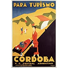 Cordoba (artist: Gerente) Argentina c. 1935 - Vintage Advertisement (12x18 SIGNED Print Master Art Print w/ Certificate of Authenticity - Wall Decor Travel Poster)