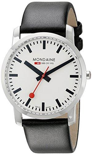 Mondaine Unisex A6383035011SBB Simply Elegant Analog Display Swiss Quartz Black Watch