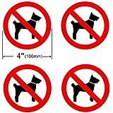 INDOOR (4 Pack) NO DOG PET 100mm Dia Sign Decal Sticker Window Door Wall stop dogs pets logo