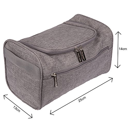 1868a4e49bbc TravelMore Hanging Travel Toiletry Bag Organizer   Bathroom Storage Dopp Kit  with Hook for Travel A