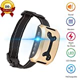 lushujun [Newest 2019] Dog Bark Collar, Rechargeable Stop Barking Collar with 7 Adjustable Sensitivity and Intensity Levels, Rainproof Bark Collar for Small Large Medium Dogs with Adjustable Strap