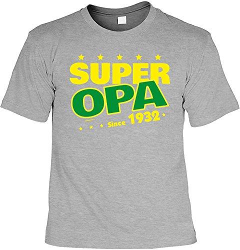 T-Shirt - Super Opa Since 1932 - lustiges Sprüche Shirt als Geschenk zum 85. Geburtstag