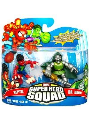 Marvel Superhero Squad Series 17 Mini 3 Inch Figure 2Pack Reptile & Dr. Doom ()