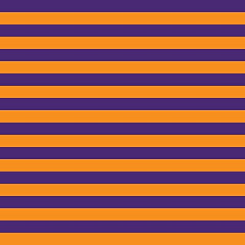 (Knit Purple Orange Stripes Design Fabric by the Yard, 95% Cotton, 5% Lycra, 60 Inches Wide, excellent quality, medium weight, 4 way stretch (1)