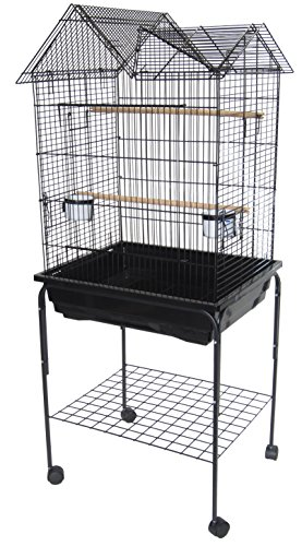 YML Villa Top Parrot Cage, 5 by 8-Inch, Black