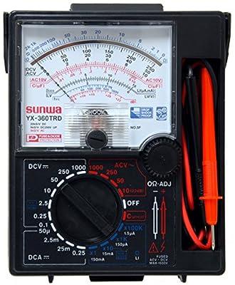 Sunwa YX360-TRD 7-Function 16-Range Analog Multimeter With One Touch Capacitance Estimation