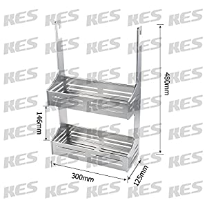 KES SOLID Aluminum Kitchen Tool and Utensil Organizer Wall Mount Anodized Silver
