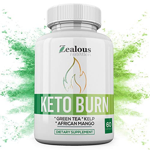 10x Pure Keto Diet Capsules + Apple Cider Vinegar - Shark Tank Advanced Weight Loss Formula W/Green Tea, Ketones, Kelp - 1200mg Blend to Burn Fat, Support Ketosis, Boost Energy and Enhance Focus