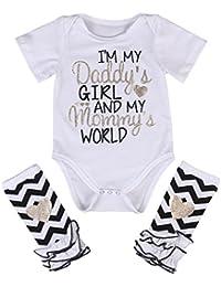 3 Styles Newborn Baby Girl I'm Daddy Girl Letter Print...