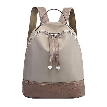 LAIDAYE Bolsa para La Mujer Mochila Casual Mujer Oxford Tela Nylon Bolsa De Viaje Mochila De Gran Capacidad Salvaje,Grey-26 * 13 * 30cm: Amazon.es: Deportes ...