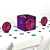 Big Dot of Happiness Tumble, Flip & Twirl - Gymnastics - Birthday Party or Gymnast Party Centerpiece & Table Decoration Kit