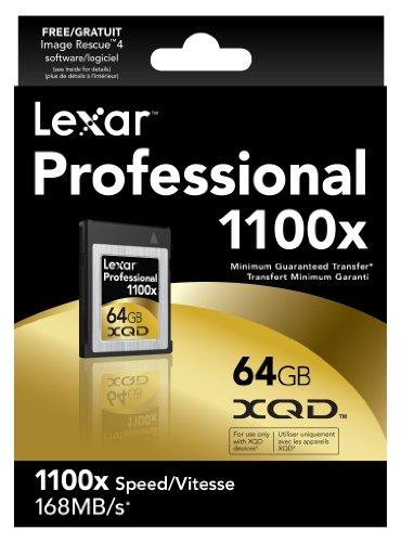 Lexar Professional 1100x 64GB XQD Card (LXQD64GCTBNA1100)