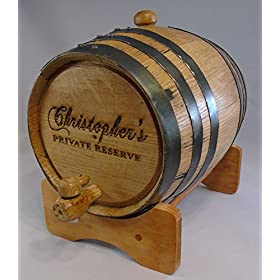 Custom Engraved Oak Barrels for Aging Whiskey, Rum, Tequila, Bourbon, Scotch and Wine