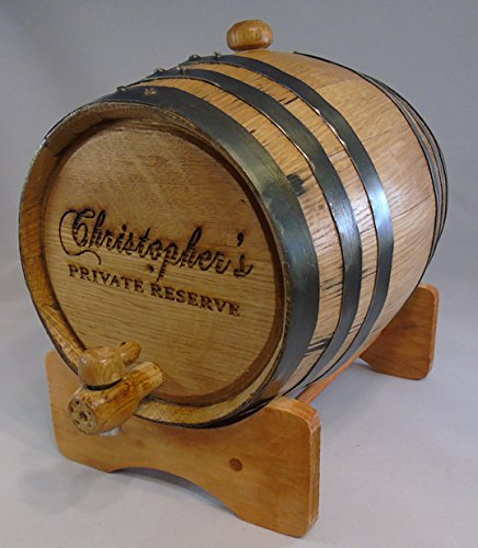 Custom Engraved 10 Liter Oak Barrels for Aging Whiskey, Rum, Tequila, Bourbon, Scotch and Wine (10 Liter) by Red Head Barrels (Image #2)
