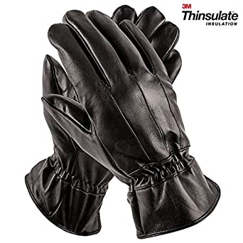 Pierre Cardin Insulated Sheepskin Leather Gloves for Men