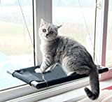 Originalidad Powerful Vacuum Suction Cup Cat Window Hammock, Heavy Duty Cat Window Perch, Durable Cat Window Bed, Safety Cat Bed, Kitty/Cat Sunny Seat - Holds up 60 lbs(Seat Size:24'' X 12'')
