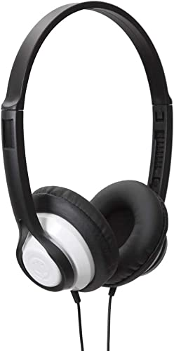 Wicked Audio Clutch Lightweight Headphones with High Fidelity, White