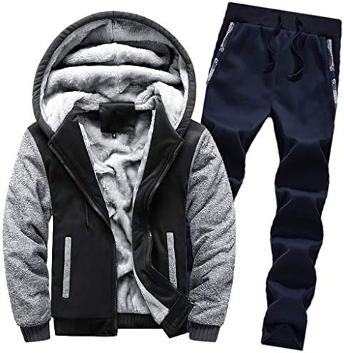 [해외]Men`s 2 Piece Tracksuit Set Hoodie Fleece Zipper Jacket Outwear Winter Warm Coat Sweatpants Jogging / Men`s 2 Piece Tracksuit Set Hoodie Fleece Zipper Jacket Outwear Winter Warm Coat Sweatpants Jogging