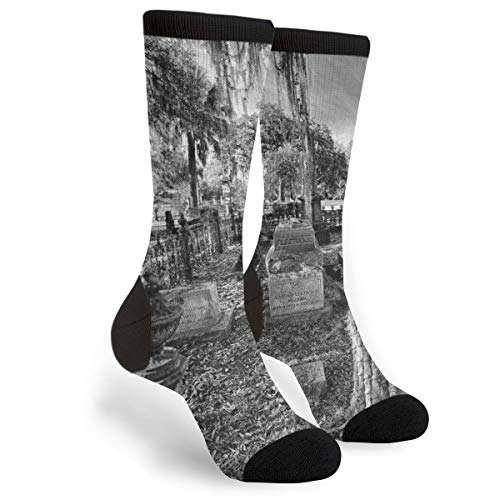 Halloween Haunted Graveyard Cemetery Cemetary Scary Themed Clothing Party Clothes Dresses Apparel Ankle Female Ladies Women Girl Teen Kid Youth Quarter Dress Mid Calf Knee Crew Socks Calf Knit Hosiery]()