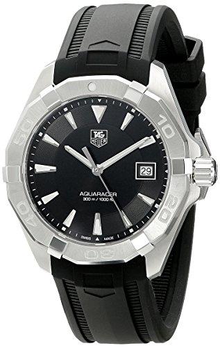 TAG Heuer Men's WAY1110.FT8021 Analog Display Quartz Black Watch