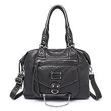 Hynes Victory Classic Shoulder Handbags (Black)