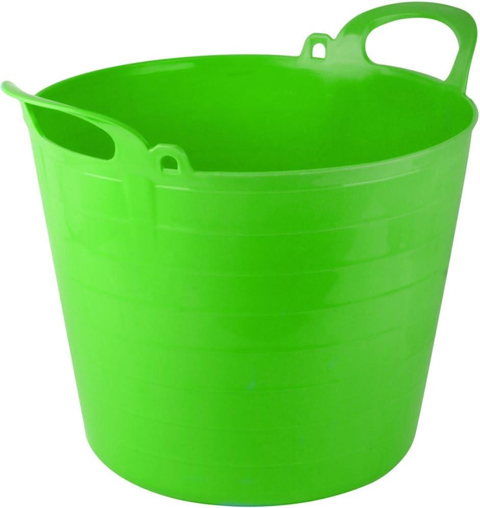 TheChemicalHut 26 Litre Extra Strong Flexi Tubs//Storage//Builders//Garden//Horse Buckets Light Green X5
