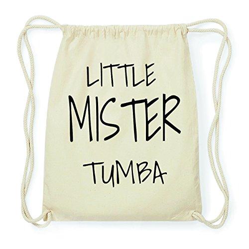 JOllify TUMBA Hipster Turnbeutel Tasche Rucksack aus Baumwolle - Farbe: natur Design: Little Mister