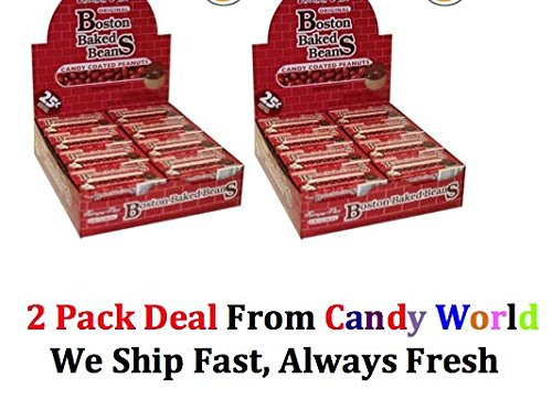 Boston Baked Beans candy Pre Priced 25 Cent, 0.8-Ounce,24-Count Box 2 Box Deal ( From candy World)