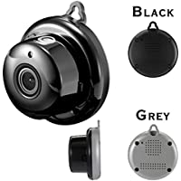 Mini IP Camera, 960P HD 2.8mm Wireless Mini WiFi Night Vision Smart Home Security with Motion Detection Two-Way Talking Supply (Grey)