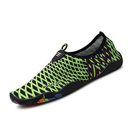 natación calzado de piel cuidado zapatos Ultra transpirables Lucdespo zapatos negro la esquí Skid Anti acuático de verde light 2 SX playa EPn1w