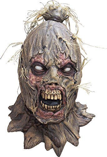 Zombie Scarecrow Mask (UHC Zombie Scarecrow Mask Scareborn Creepy Horror Theme Party Halloween)