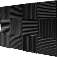 """Mybecca 12 Pack- Acoustic Panels Wedges de espuma para estudio 1 """"X 12"""" X 12 """""""