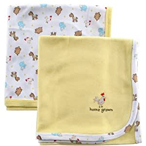 Luvable Friends 2-Pack Swaddler Cotton Receiving Blankets, Yellow