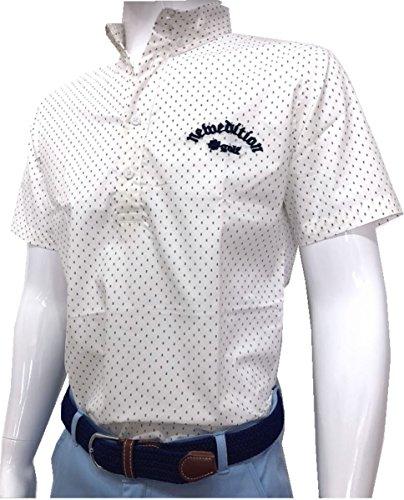 【NewEdition GOLF】 ゴルフウエア メンズ ストレッチ 半袖 プリントシャツ 春夏 柄 ゴルフシャツ NEG-320