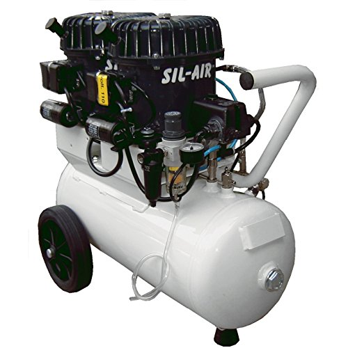 Silentaire Val-Air 100-24 AL Silent Running Airbrush Compressor: Oil Lubricated - Silentaire Airbrush Compressor