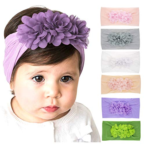 (Baby Nylon Hairbands Baby Headbands and Bows for Newborn Infant Toddlers Girl Kids (2019B))