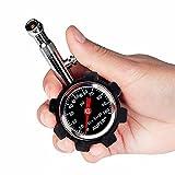 Auper-High-Accuracy-Tire-Pressure-Gauge-Black-100-psi-4-Free-Valve-Caps