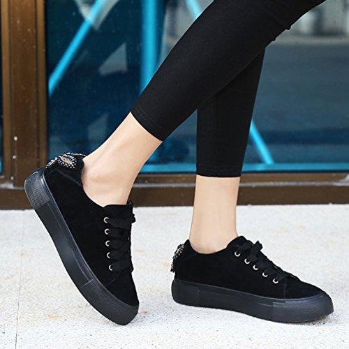 Zapatillas Negro de LFEU Piel Otra Mujer de Running HCqBdS