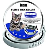 JOEOR Flea Collar for Cats - Long-Lasting Flea and Tick Prevention for Cats - Adjustable, Hypoallergenic and Waterproof Safe Cat Flea Treatment - Enhanced Formula Medicine Cat Collar