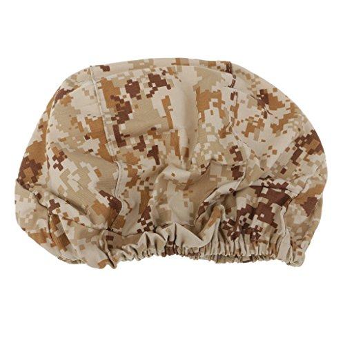 (Baosity Breathable Men Hunting Camouflage Helmet Cover Durable Lightweight Helmet Cloth for M88 Helmet - Desert Digital)