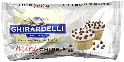 Ghirardelli Chocolate Baking Mini Chips, Semi-Sweet Chocolate, 10 oz, 6 Count by Ghirardelli