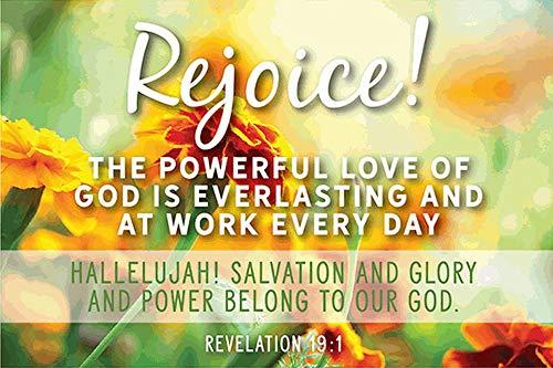 - Rejoice Revelations 19:1 Easter Pocket Cards - Bulk Package of 25 - Make Nice Handout Gifts!