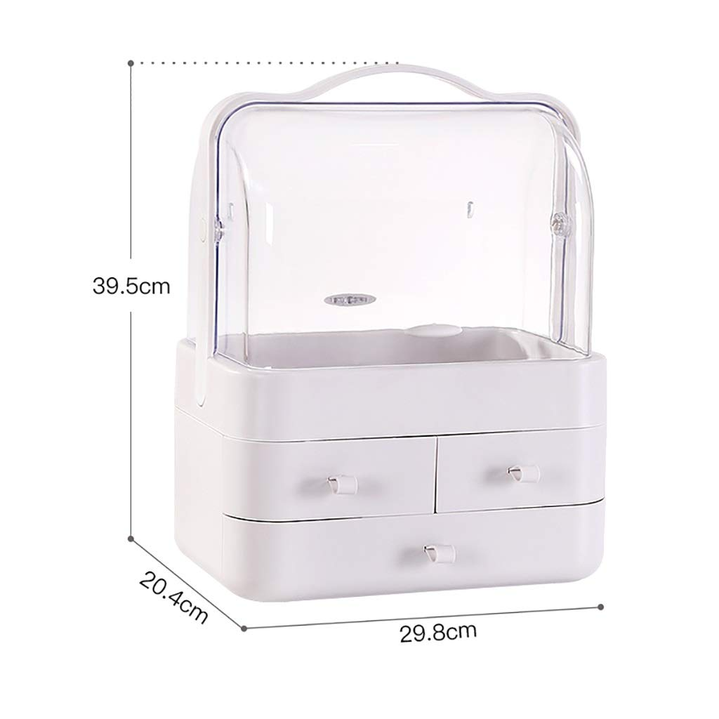Bxwjg Storage Box Cosmetic Storage Box Dressing Table Skin Care Lipstick Rack Transparent dust Cover Large Capacity (Color : A1)